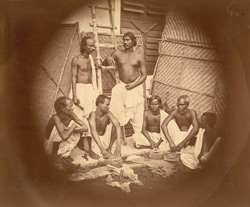 Group of leatherworkers, Eastern Bengal.